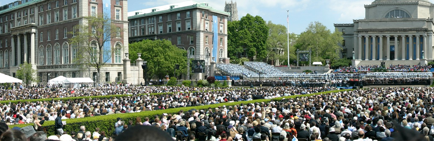 Columbia university during graduation
